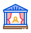 greek ancient theater icon outline vector image vector image