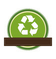 green circular frame with recycling symbol and vector image vector image