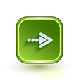 Green web button with arrow right sign Rounded vector image vector image