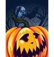 Halloween Pumpkin in the Forest3 vector image
