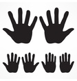 Hand silhouette set vector image vector image