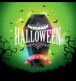 happy halloween banner with flying vector image vector image