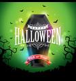 happy halloween banner with flying vector image