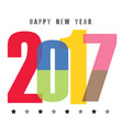 happy new year 2017 font vector image vector image