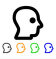 head profile stroke icon vector image
