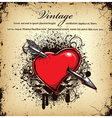 heart with grunge vector image vector image