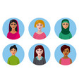 international women avatars vector image