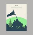 iwo jima usa vintage style landmark poster vector image
