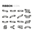 line ribbon icons set vector image vector image