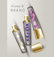 luxury lip balm cosmetics realistic vector image vector image