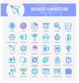 marketing icons vector image vector image