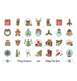 Mega New Year icons set Christmas isolated vector image vector image