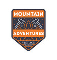 mountain adventures vintage isolated badge vector image vector image