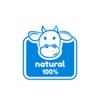 natural milk logo design template badge vector image vector image