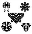 Northwest Art - masks set vector image