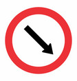 obligatory passage traffic sign vector image vector image