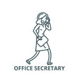 office secretary line icon linear concept vector image vector image