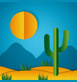 paper origami landscape vector image vector image