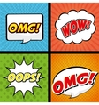 Pop art and comic design vector image vector image