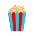 pop corn icon vector image vector image