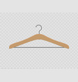 realistic wooden hangers for coats sweaters vector image vector image