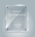 rectangular glass plate with a place vector image vector image