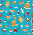 russian food seamless pattern with thin pancakes vector image vector image