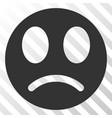 sad smiley eps icon vector image