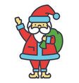 santa claus christmas winter holidays concept vector image