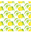 seamless pattern with lemon branches vector image vector image