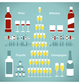 set alcohol bottles vector image