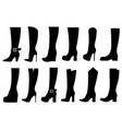 set different boots vector image vector image