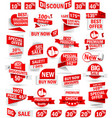 Set of stickers and banners vector image vector image