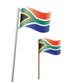 southafrica flag3 vector image vector image