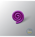 Spiral background object vector image vector image