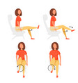 sport exercises for office vector image vector image