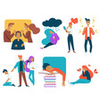 teenager stress and growing up strugles isolated vector image vector image