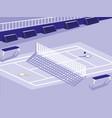 tennis sport court scene vector image