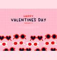 valentines day heart sunglasses cartoon card vector image