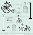 vintage design elements set vector image vector image