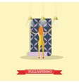 Wallpapering concept in flat vector image vector image