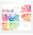 Watercolor rainbow flowers Banners flyers vector image vector image