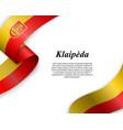 waving ribbon with flag city vector image vector image