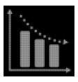white halftone negative trend icon vector image vector image