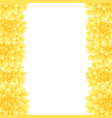 yellow dahlia border style 2 vector image
