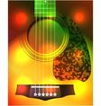 guitar closeup vector image