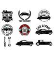 Set of Retro car club labels vector image