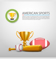 american sports sign cover object vector image