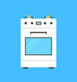 white gas stove icon vector image