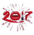 2017 year woman vector image vector image